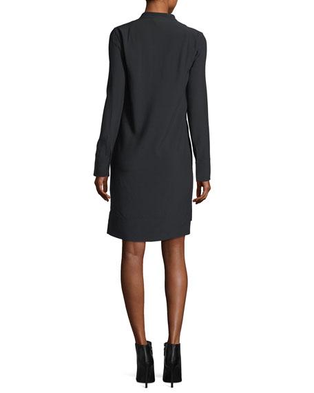 Lace-Trim V-Neck Dress