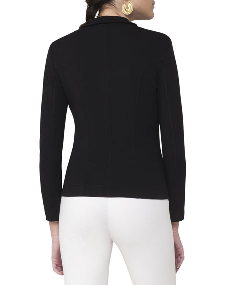 Notch-Collar Two-Button Blazer, Black