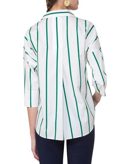 Striped Kimono Blouse, Multi