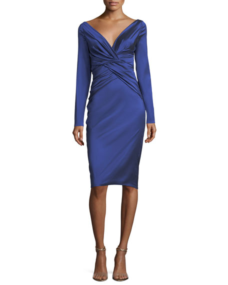Nogales Stretch-Taffeta Sheath Dress