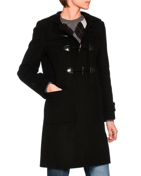 Wool-Blend Toggle Coat