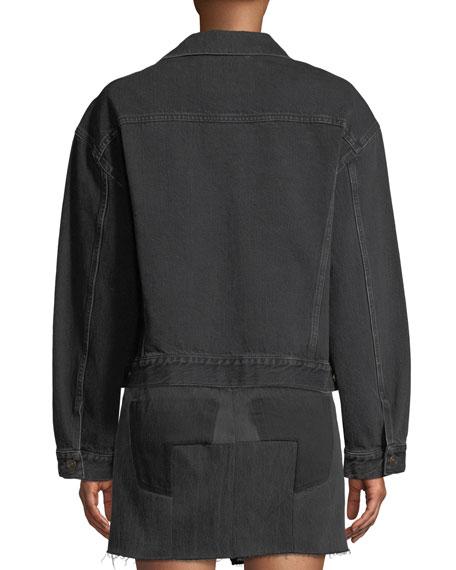 Denim Swing Jacket, Black