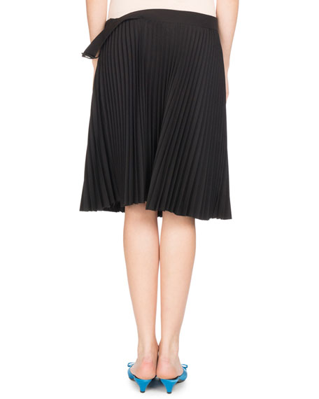 Convertible Pleated Skirt/Top, Black