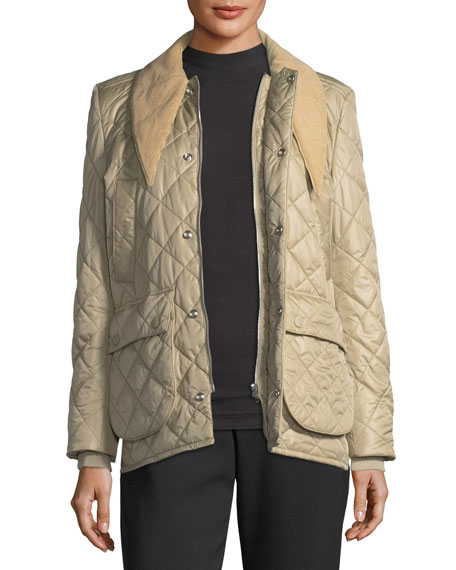 Quilted Tie-Neck Hunter Jacket