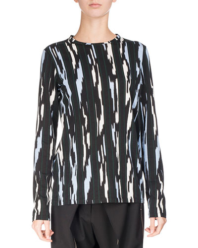 Printed Ultrafine Jersey Top, Multi