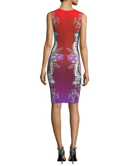 Sleeveless Printed Jersey Dress