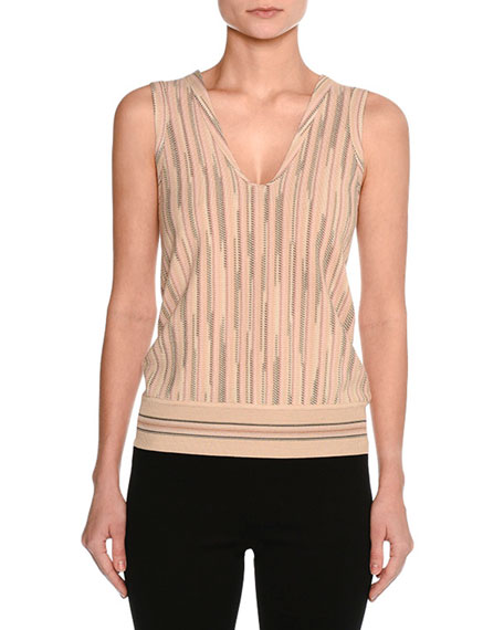 Sleeveless Space Cady Top, Neutral Pattern