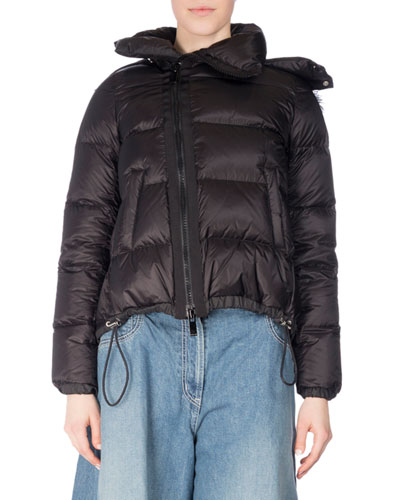 Fur-Trim Down Puffer Coat
