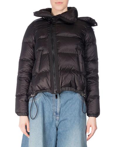 Fur-Trim Down Puffer Coat