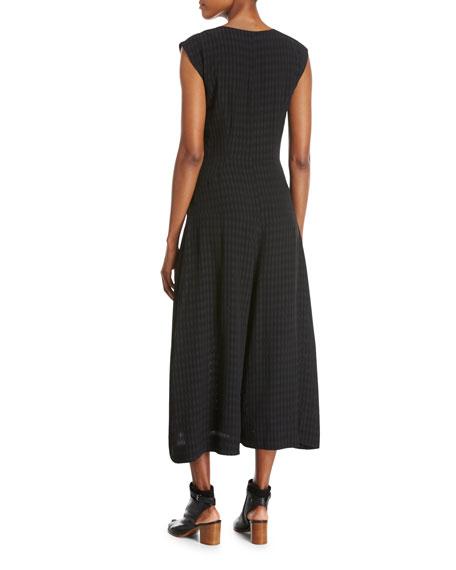 Zowie Batik Sleeveless Jumpsuit, Black