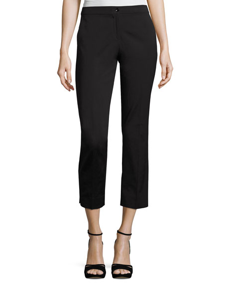 Etro Faille Cropped Straight-Leg Pants