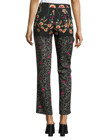 Mixed-Pattern Pants, Black
