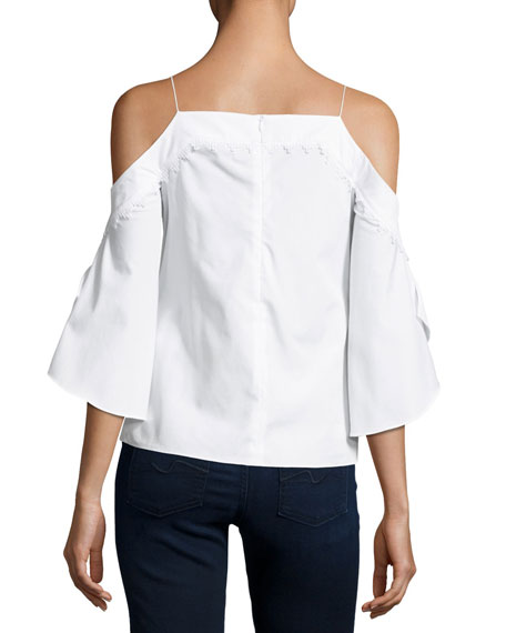 Cold-Shoulder Cotton Top