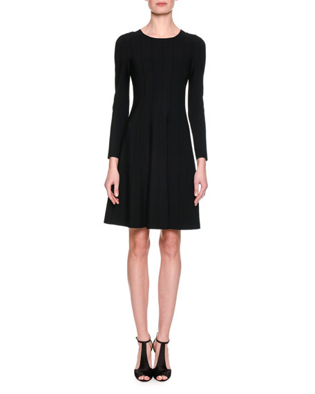 Giorgio Armani Long-Sleeve Jersey A-Line Dress