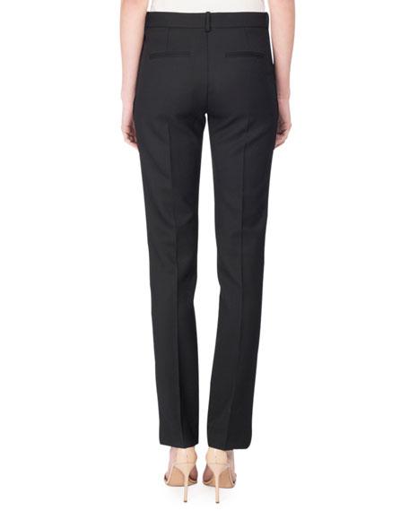 Slim Tuxedo Trousers, Black