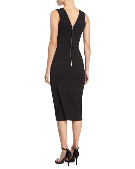 Sleeveless Fitted V-Neck Dress