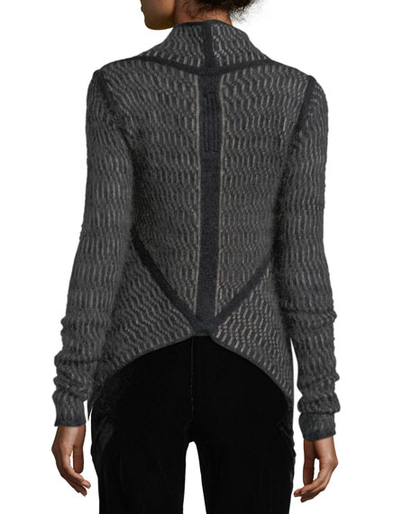 Structured Knit Wrap Jacket