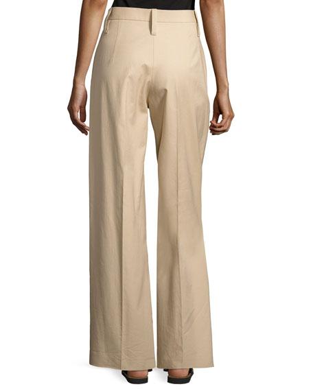 Werto Wide-Leg Pants, Beige