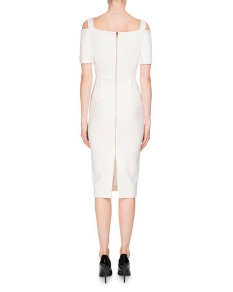 Awalton Cold-Shoulder Sheath Dress, White