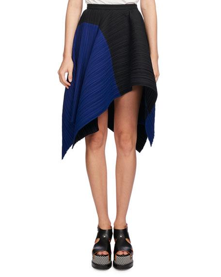 Asymmetric Point-Hem Skirt