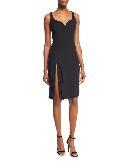 Sleeveless Sweetheart Petal-Detail Dress