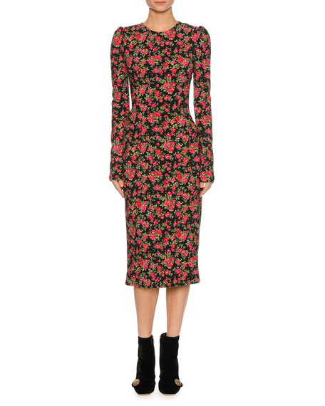 Floral Pencil Dress, Multi