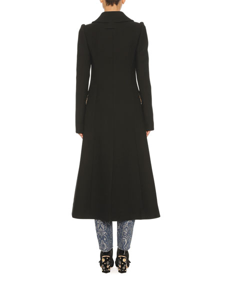 Classic Virgin Wool Coat, Black