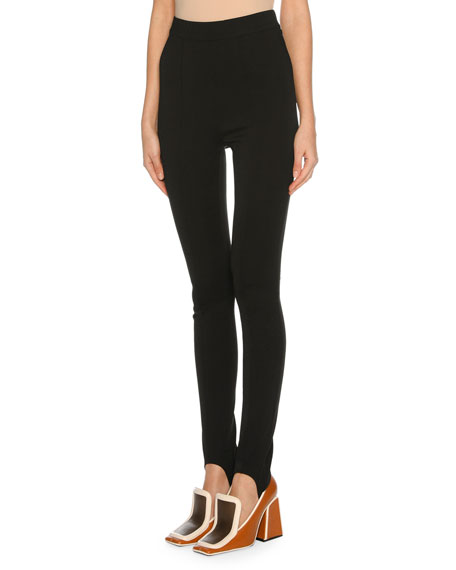 Stirrup Legging Pants, Black