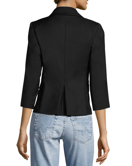 Party Skulls Gabardine Blazer, Black