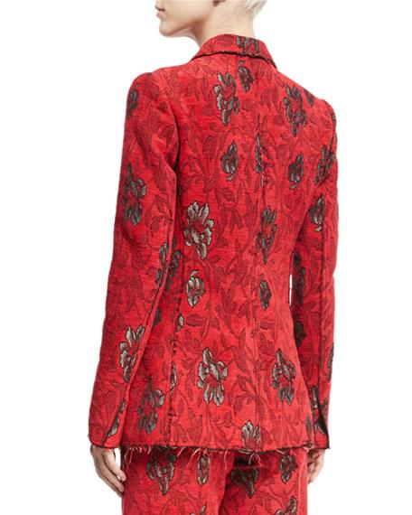 Velvet Floral Jacquard Blazer
