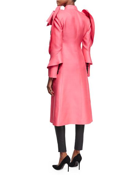 Modern Future Wool Coat, Bright Pink