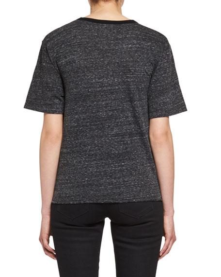 Cat Martini T-Shirt, Black/Red