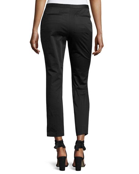 Cropped Cady Skinny Pants, Black