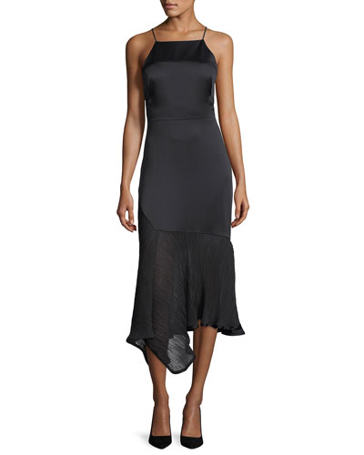 Sleeveless Charmeuse Cocktail Dress