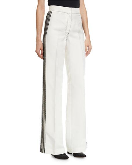 Lace-Striped Tuxedo Pants