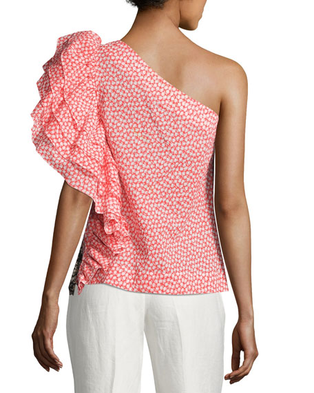 Rosie Shoulder Assoulin Ruffled Pattern TopMulti One odCQrExBWe