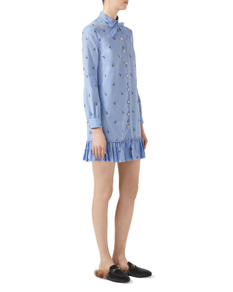 a9ad26923 Gucci Rabbit Fil Coupé Long Shirt, Light Blue