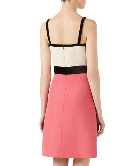 Spaghetti Strap Crepe Dress, Pink