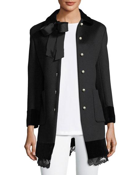 Wool Coat w/Lace Hem