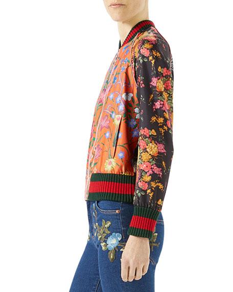 Macro New Flora Twill Baseball Jacket, Multi