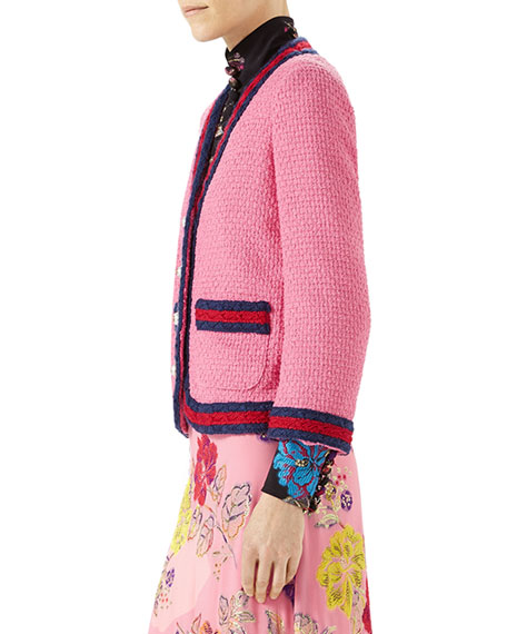 Light Tweed Jacket, Pink Pattern