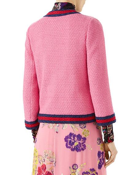 Light Tweed Jacket, Pink Pattern