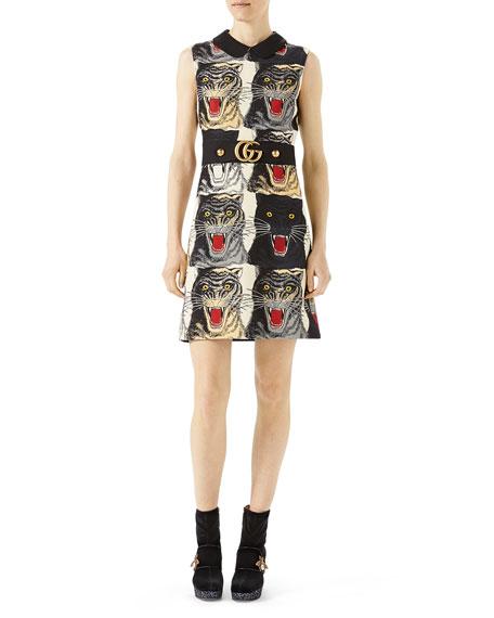 Tiger Face Cady Dress, Multi