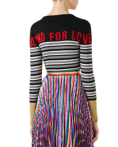Blind for Love Striped Knit Top, Multicolor