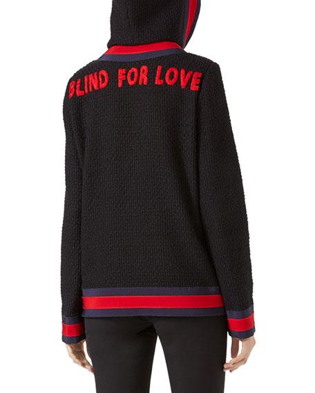 Blind for Love Tweed Jacket, Black