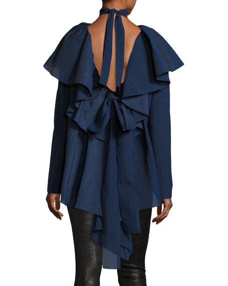 Long-Sleeve Napkin Blouse