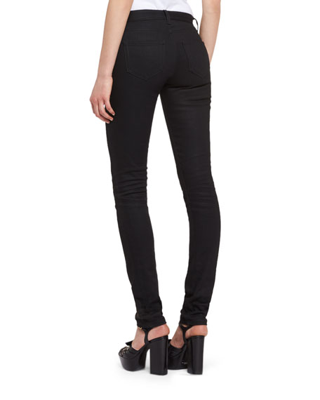 Denim Skinny Jeans, Black