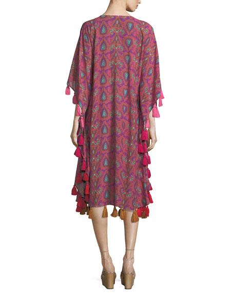 Amrita Tassel-Trimmed Caftan Dress