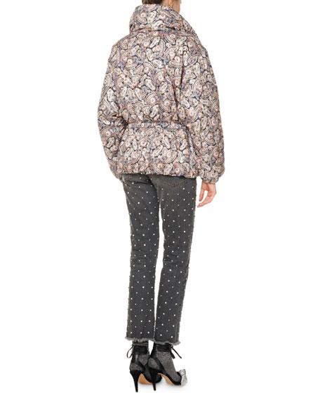Calvin Paisley Puffer Coat