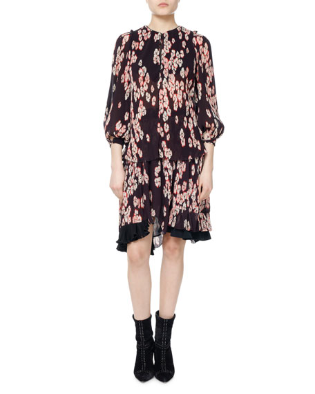 Wave Cherry Blossom Georgette Top